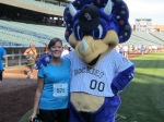 At Coors Field, home of the Colorado Rockies, me and Dinger